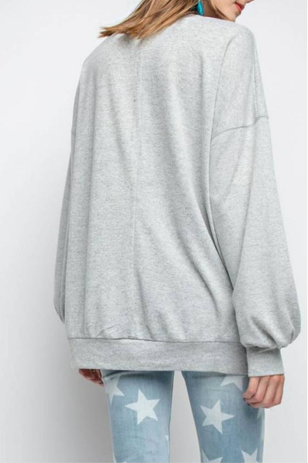 easel Rickie Pullover Sweatshirt - Front Full Image