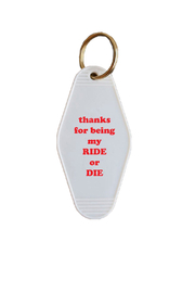 He Said, She Said Ride or Die Keychain - Product Mini Image