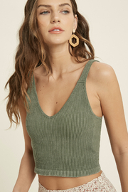 Wishlist  Ride Or Die Mineral Washed Bralette Cami - Product Mini Image