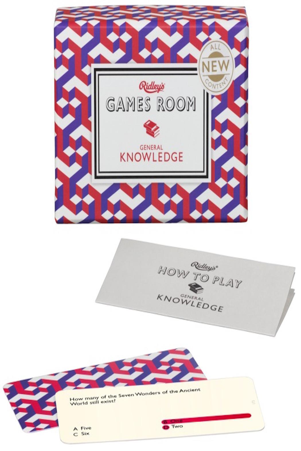 Ridley's Games Room - General Knowledge Quiz | Maisy & Co