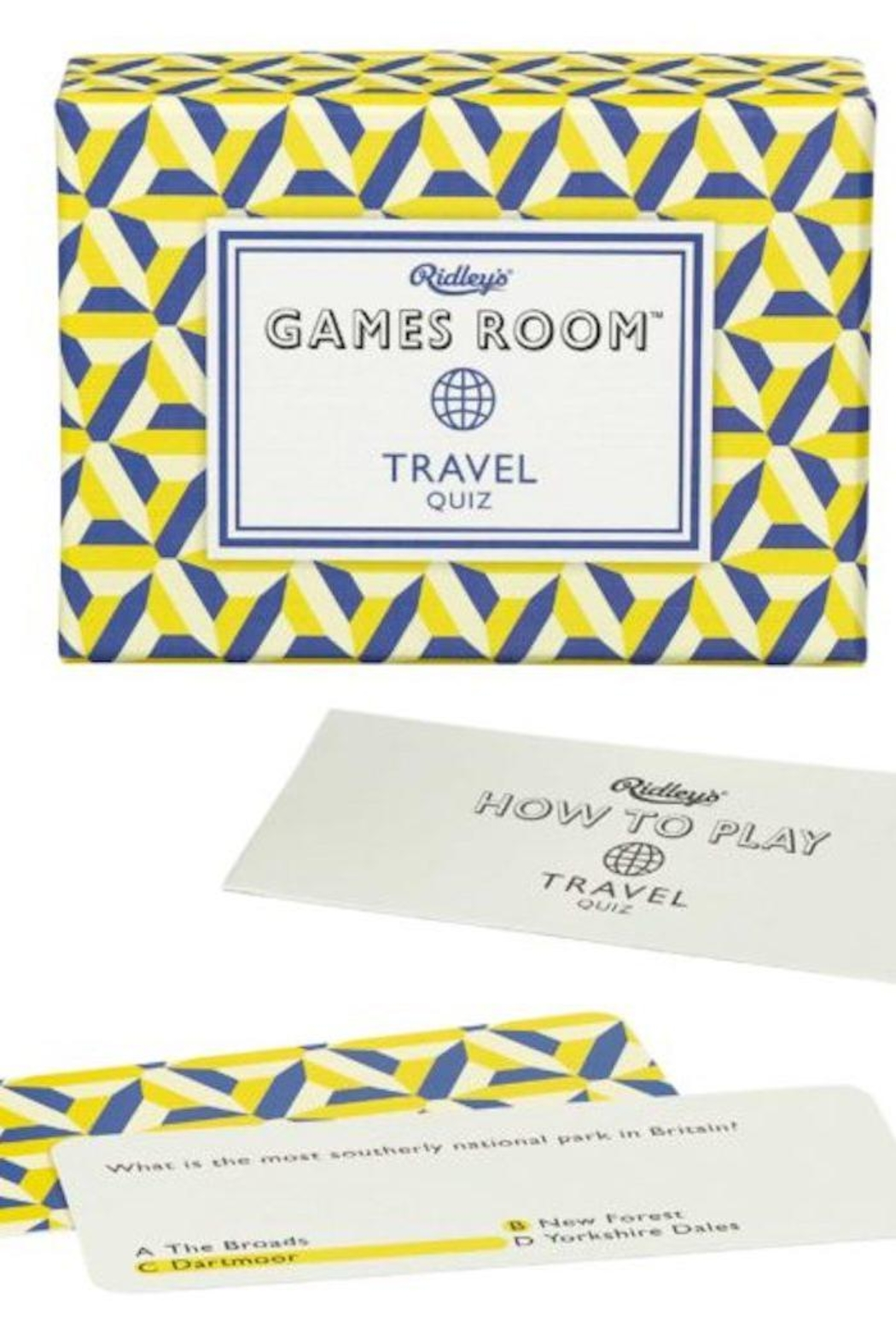 Ridley's Games Room Travel Quiz - Front Full Image