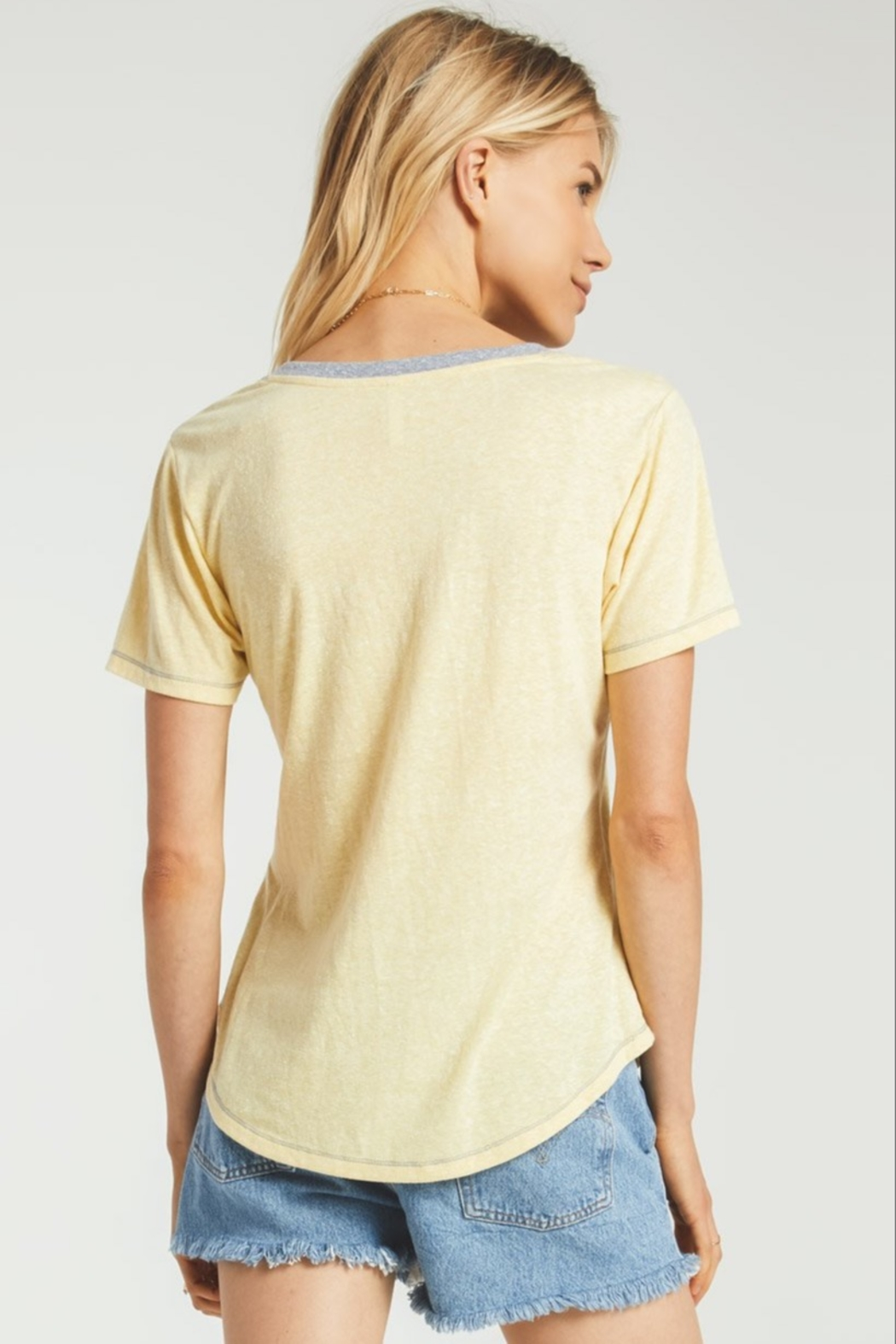 z supply Ridley Triblend Tee - Side Cropped Image