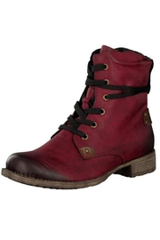 Rieker Red Lace Up Boots - Product Mini Image