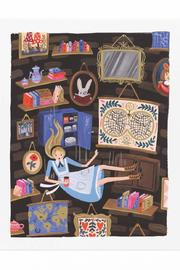 Rifle Paper Co.  Alice Falling Print - Front cropped