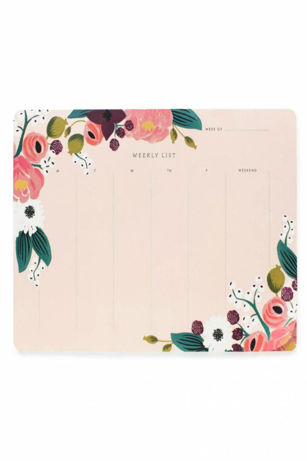 Rifle Paper Co.  Floral Weekly Deskpad - Main Image