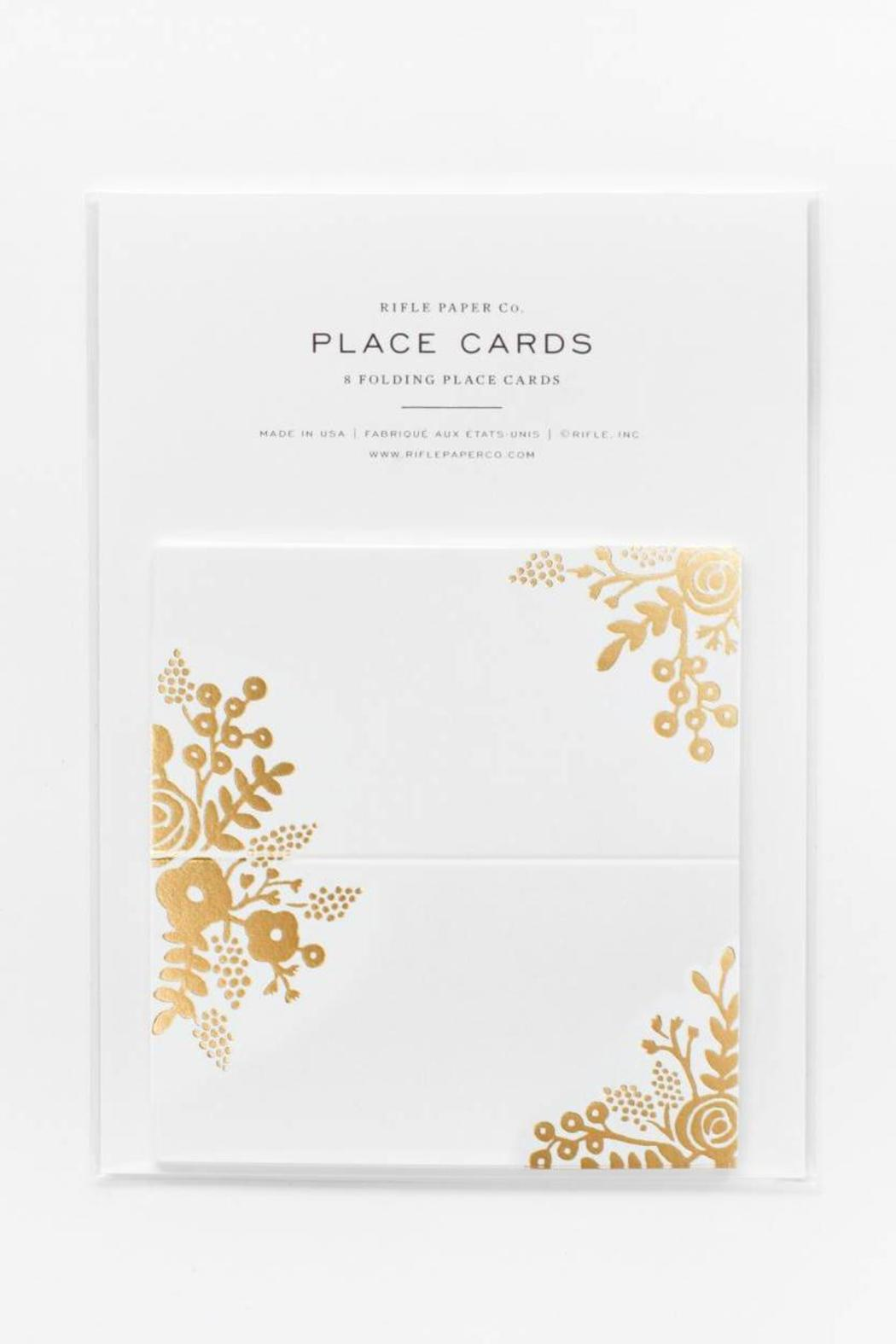 Rifle Paper Co.  Gold Lace Placecards - Front Cropped Image