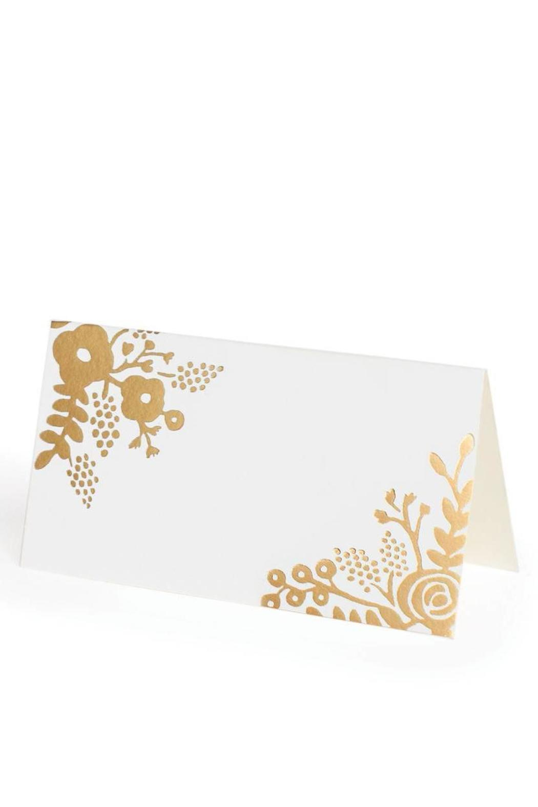 Rifle Paper Co.  Gold Lace Placecards - Front Full Image