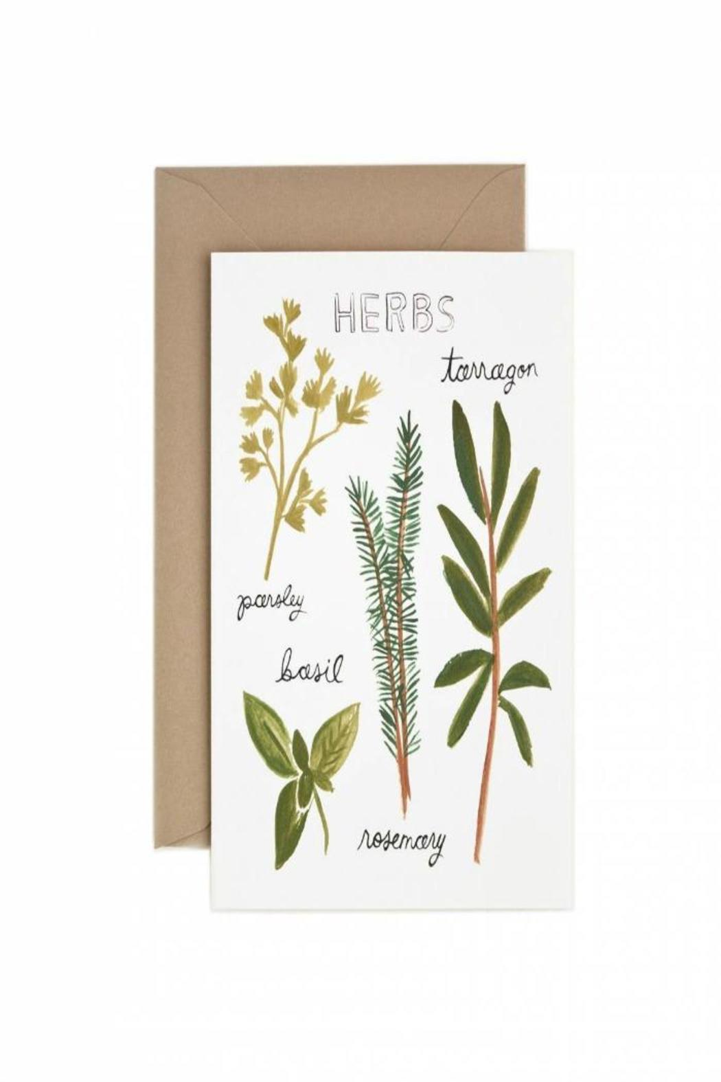 Rifle Paper Co Herb Greeting Card From Orange County By Tin