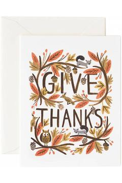 Shoptiques Product: Thankful Forest Cards