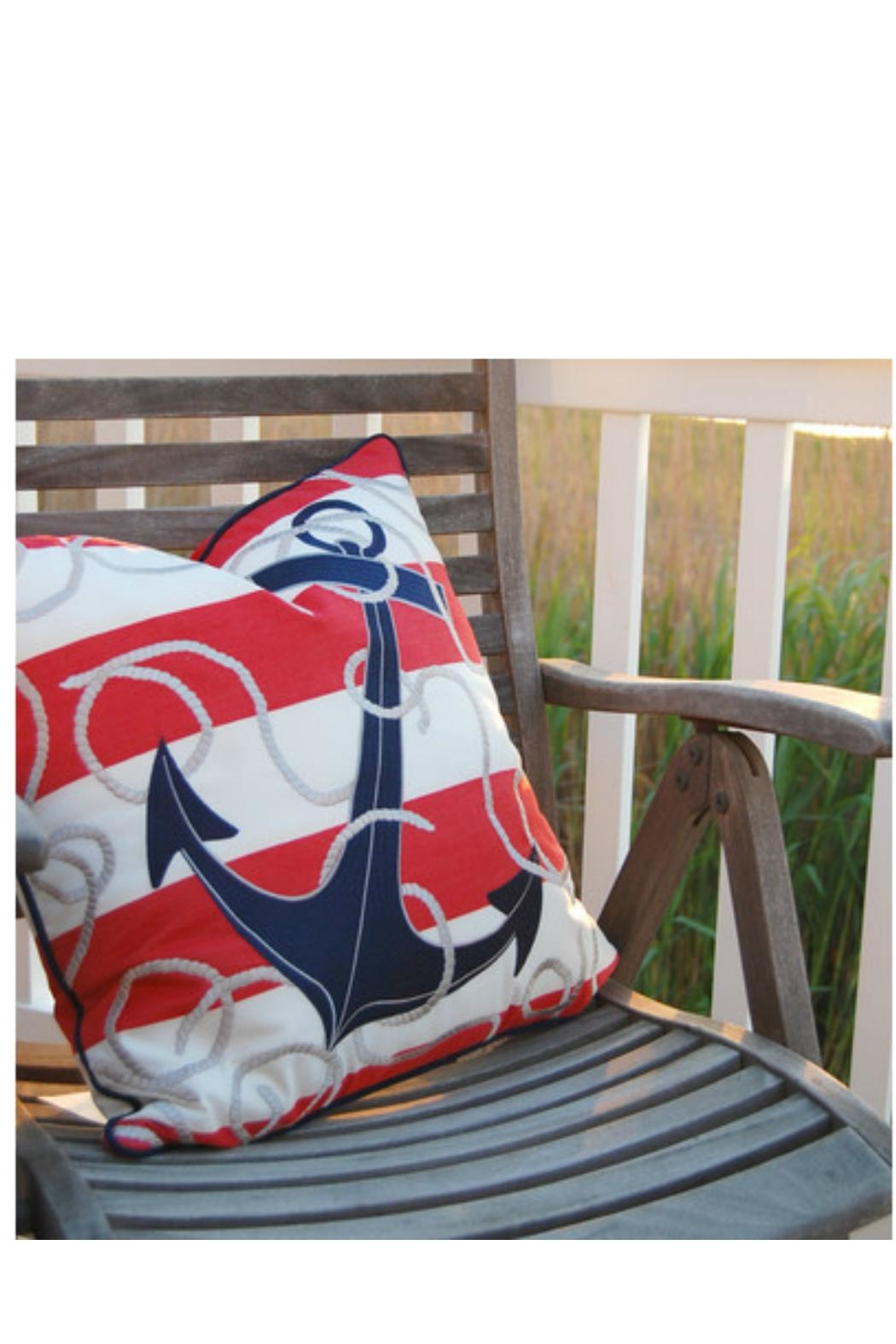 Rightside Design Anchor Sunbrella Pillow - Front Full Image