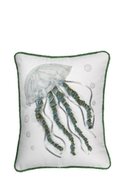 Rightside Design Jellyfish Applique Pillow - Product Mini Image