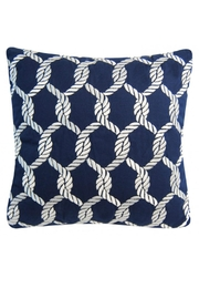 Rightside Design Nauticalknots Sunbrella Pillow - Front cropped
