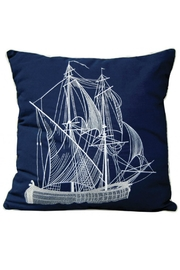 Rightside Design Vintageship Sunbrella Pillow - Front cropped