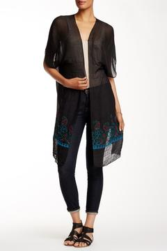 Shoptiques Product: Sheer Black Long Cardigan