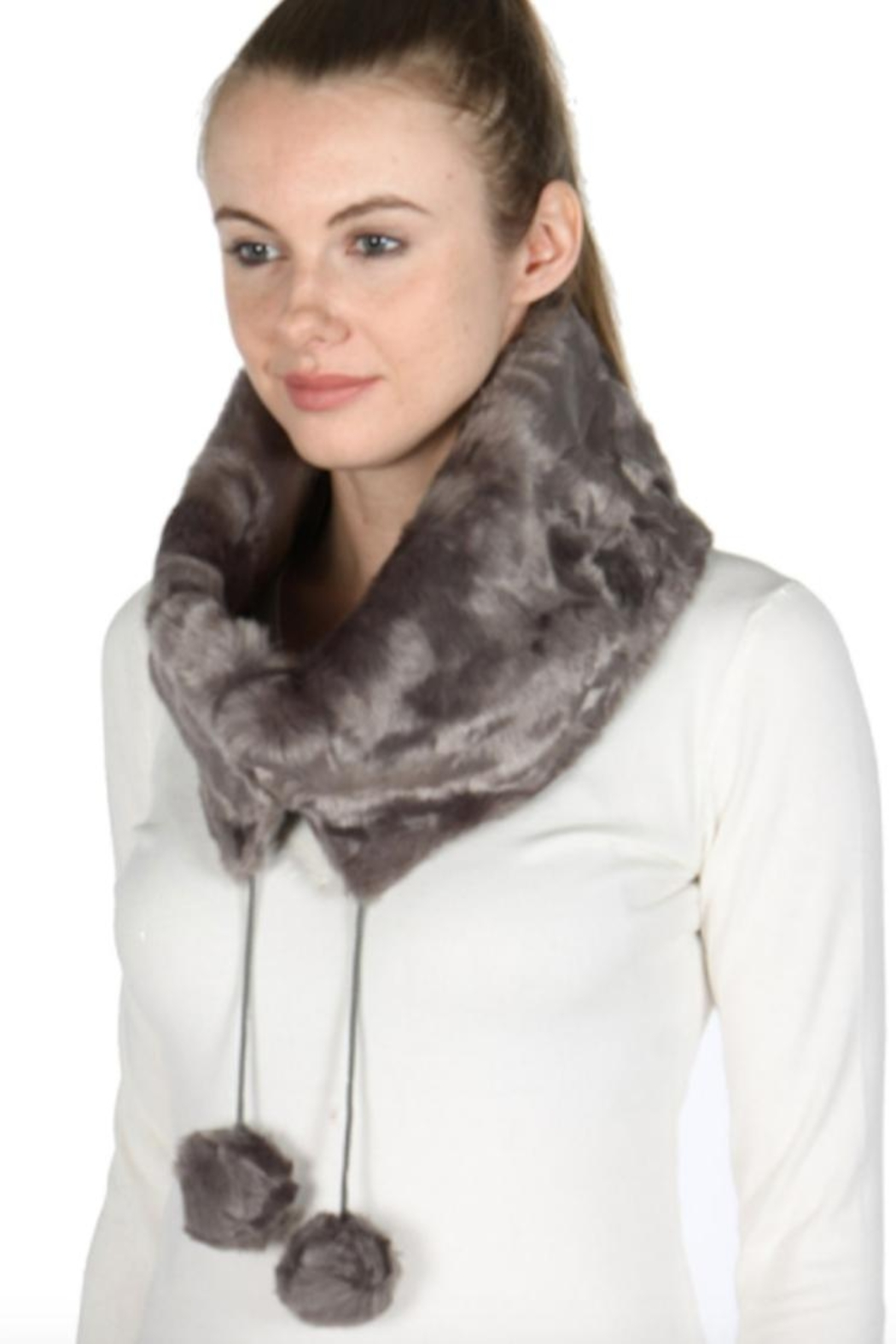 Rikka Faux Fur Neck Warmer - Front Cropped Image
