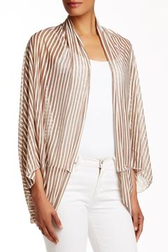 Shoptiques Product: Taupe Stripe Cardigan