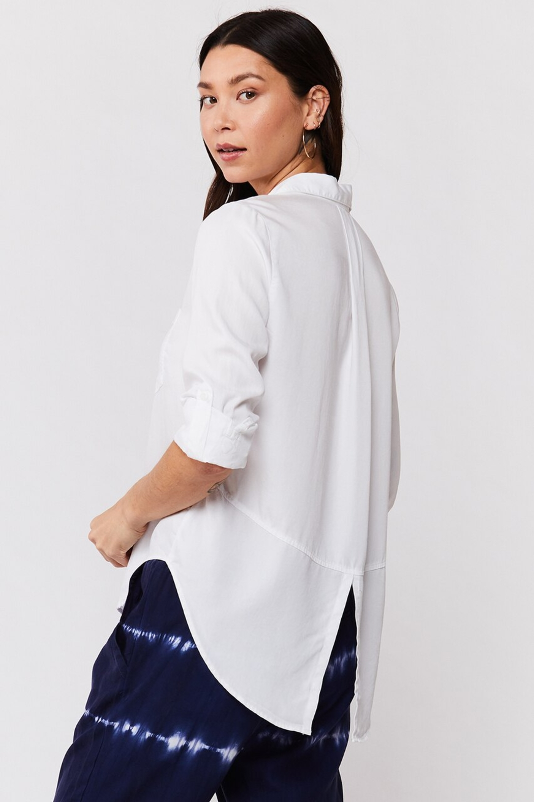 Velvet Heart Riley Button Down Blouse - Side Cropped Image