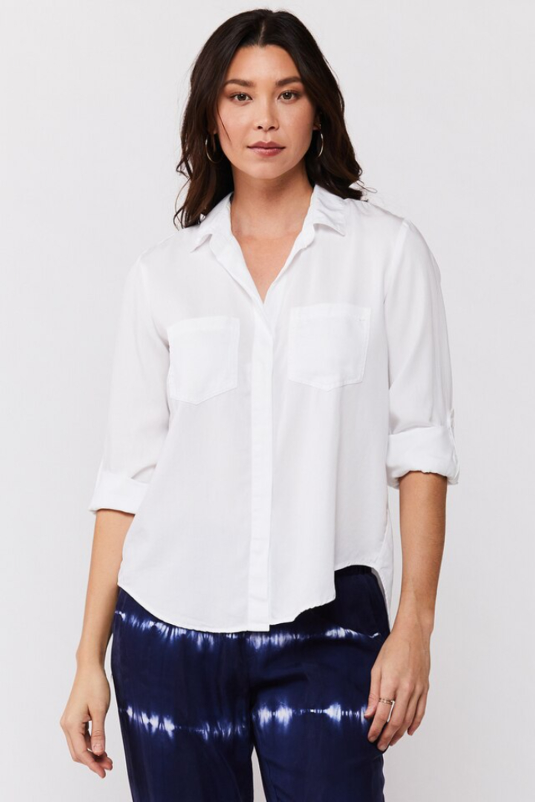 Velvet Heart Riley Button Down Blouse - Front Cropped Image