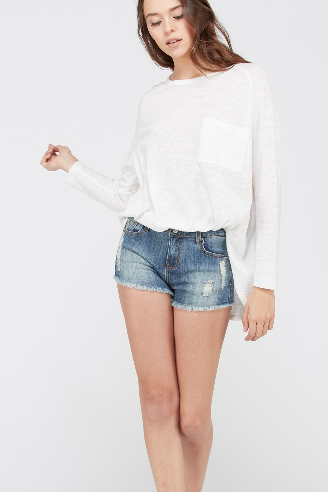 Wishlist Riley Long Sleeve Tee - Front Cropped Image