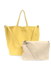 Joy Accessories Riley Reversible Slouchy Tote - Side cropped