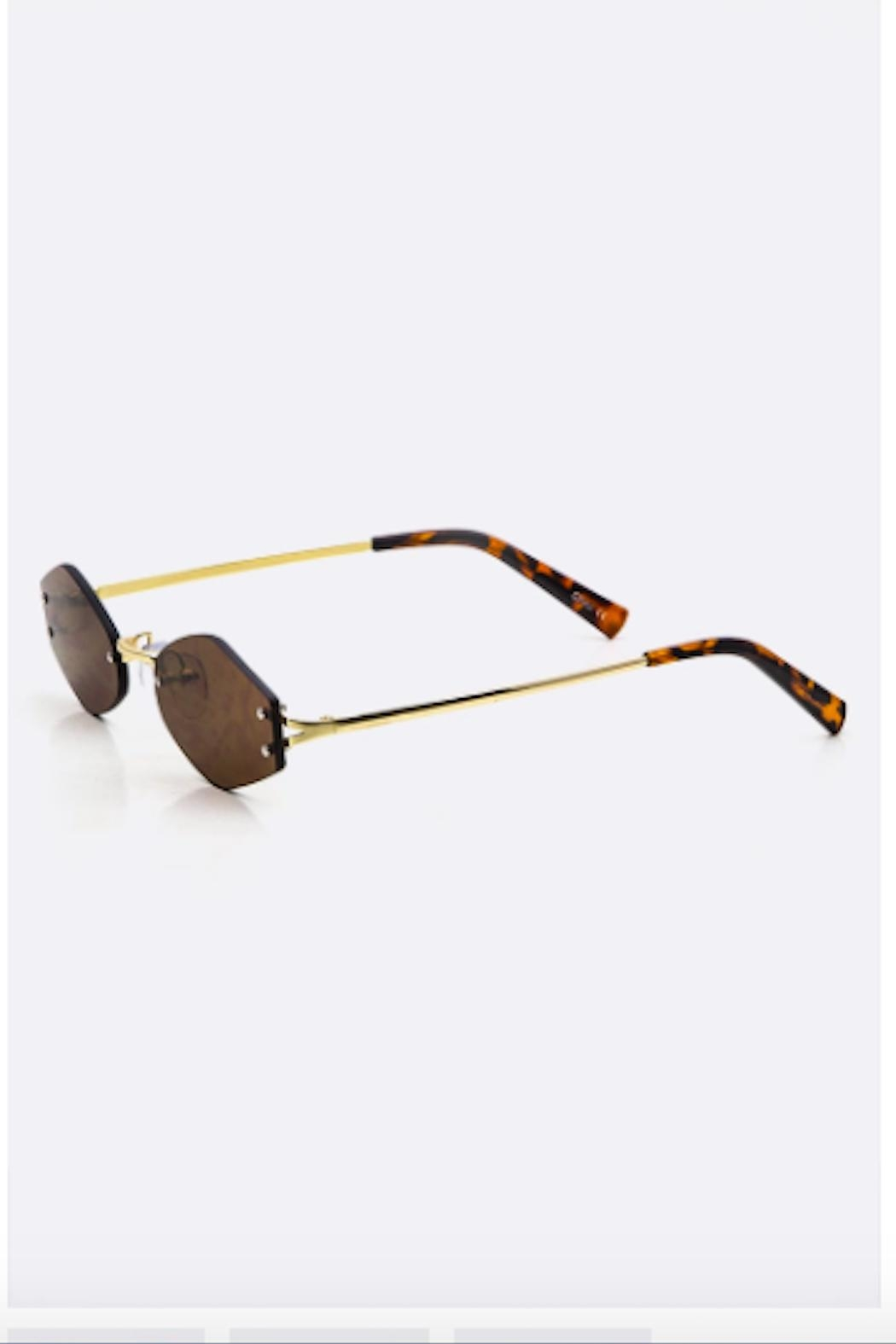 TIMELESS Rimless Sunglass - Front Full Image