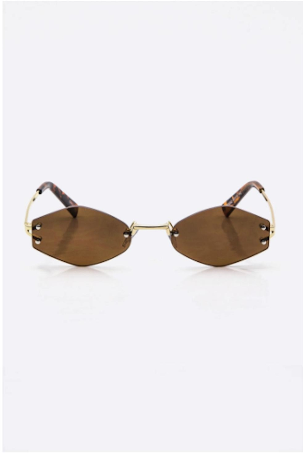 TIMELESS Rimless Sunglass - Front Cropped Image