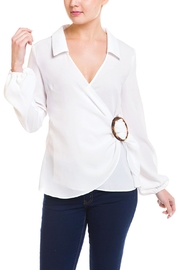 Idem Ditto  Ring Wrap Blouse - Product Mini Image