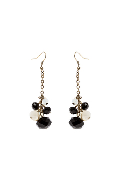 Shoptiques Product: Black Gold Beaded Earrings