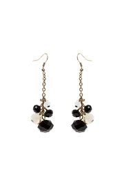 Rings & Things Black Gold Beaded Earrings - Product Mini Image