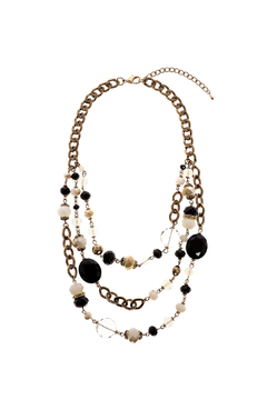 Shoptiques Product: Black Gold Beaded Necklace