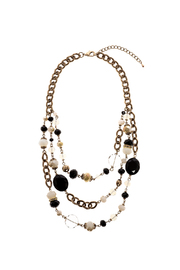Rings & Things Black Gold Beaded Necklace - Product Mini Image