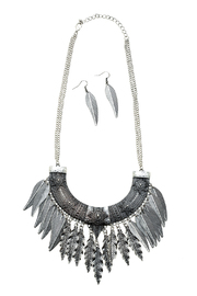 Rings & Things Bohemian Feather Necklace Set - Product Mini Image