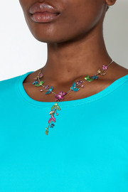 Rings & Things Delicate Flower Necklace - Back cropped