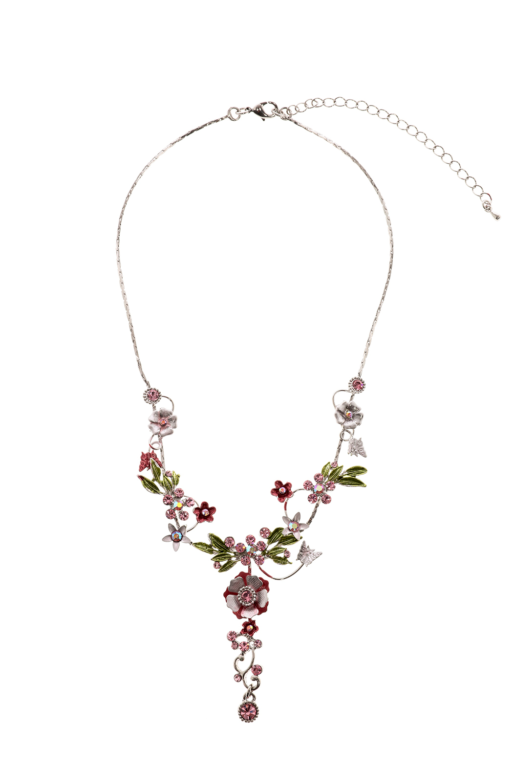 Rings & Things Delicate Flower Necklace - Front Cropped Image
