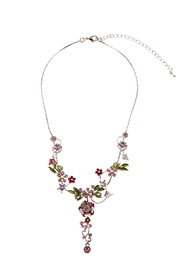 Rings & Things Delicate Flower Necklace - Front cropped