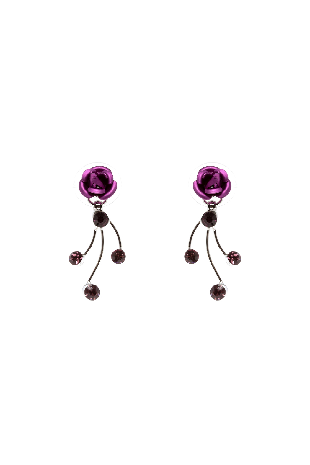 Rings & Things Delicate Rose Earrings - Front Cropped Image