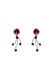 Rings & Things Delicate Rose Earrings - Front cropped