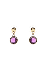 Rings & Things Purple Drop Earrings - Product Mini Image