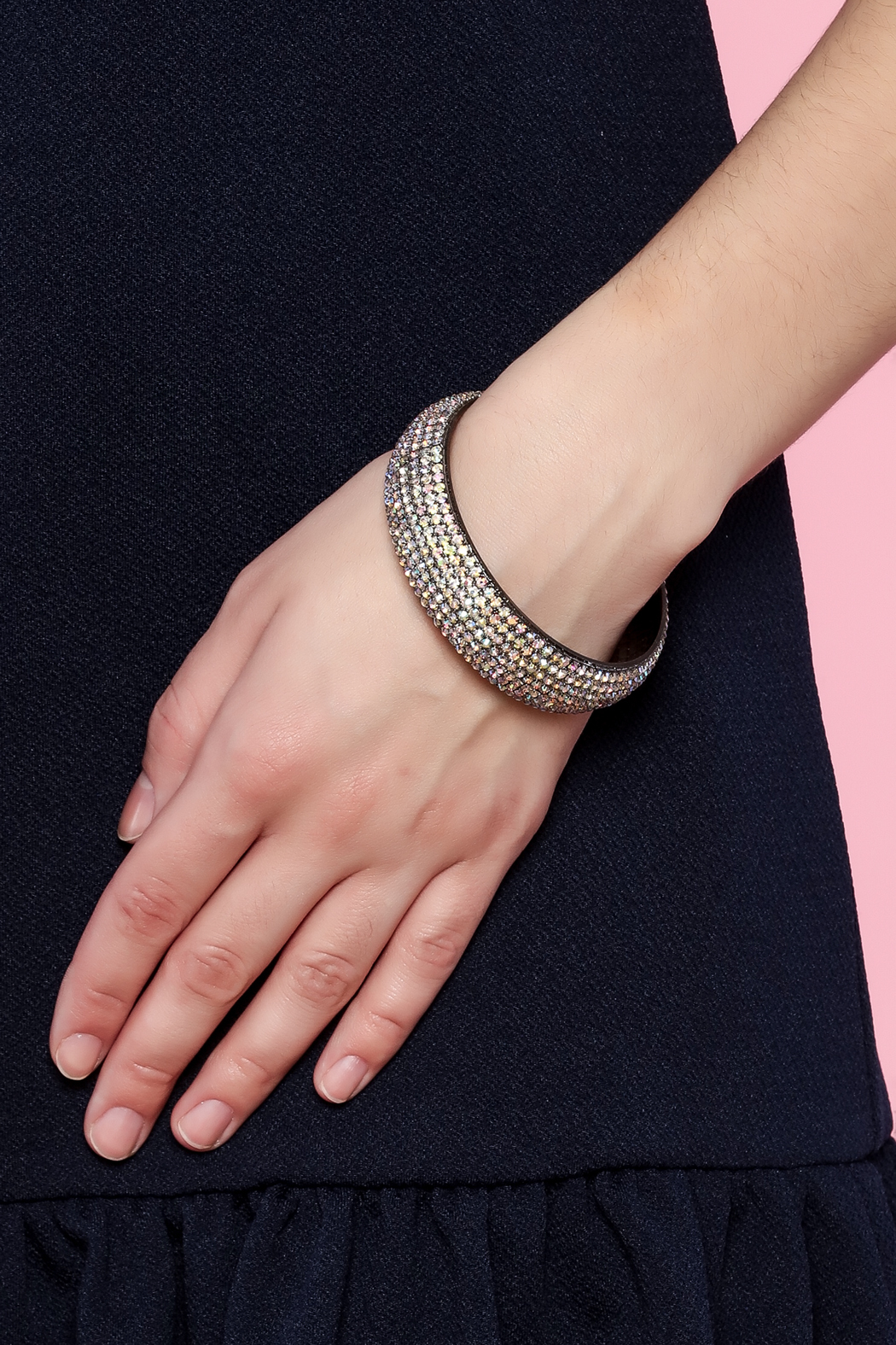 Rings & Things Rhinestone Studded Bangle - Back Cropped Image