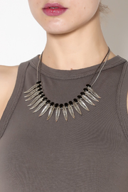 Rings & Things Rocker Leaf Necklace - Back cropped