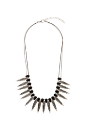 Rings & Things Rocker Leaf Necklace - Front cropped