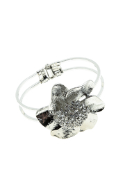 Rings & Things Silver Flower Bracelet - Product Mini Image