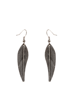 Shoptiques Product: Silver Leaf Earrings