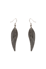Rings & Things Silver Leaf Earrings - Product Mini Image