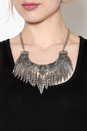 Rings & Things Silver Leaf Necklace - Back cropped