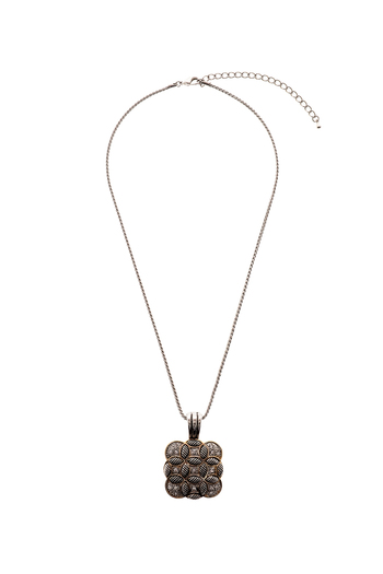 Rings & Things Square Pendant Necklace - Main Image