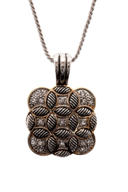 Rings & Things Square Pendant Necklace - Front full body