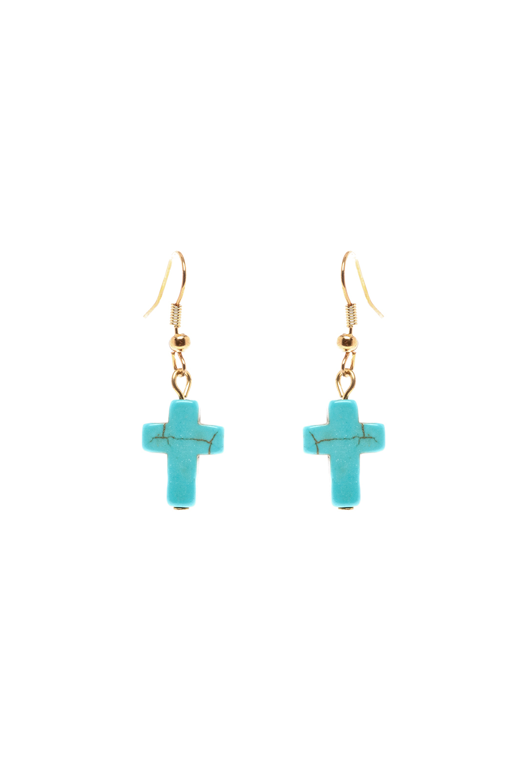 Rings & Things Turquoise Cross Earrings - Main Image