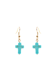 Rings & Things Turquoise Cross Earrings - Product Mini Image