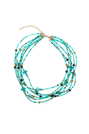 Rings & Things Turquoise Necklace - Front cropped